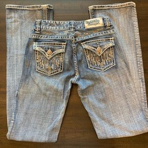 Rock & Roll Cowgirl Mid Rise Jeans Size 26 x 34